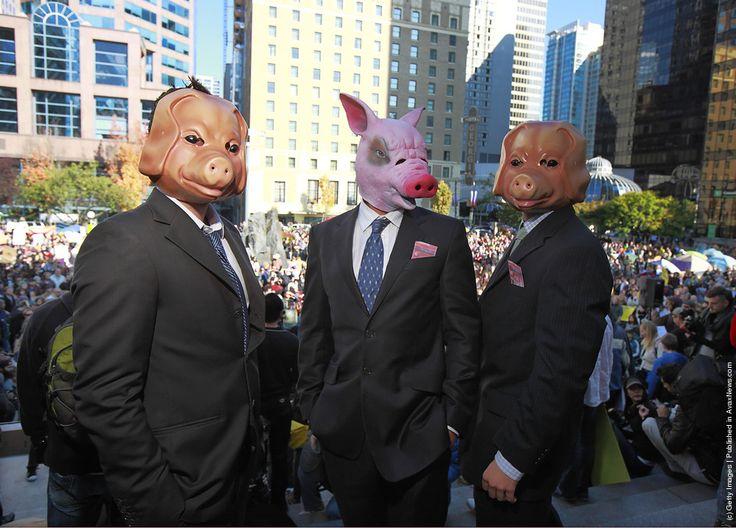 pig in suit